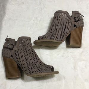 Brand New Qupid Perforated Bootie